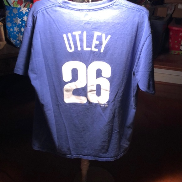 promo code db531 ba127 Rare!Classic: Phillies Chase Utley Jersey T-Shirt